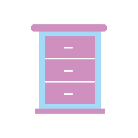 furniture bathroom drawers cabinet wooden vector illustration Banco de Imagens - 88188690