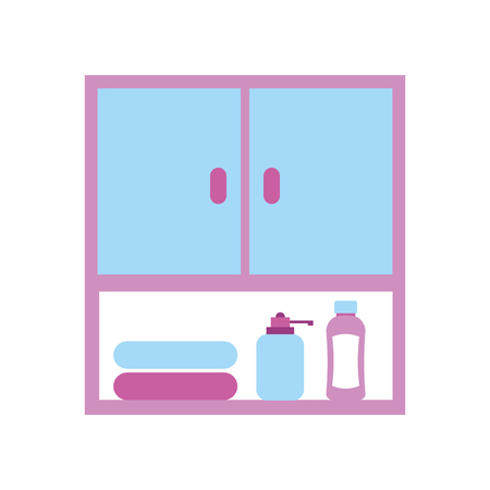 bathroom modular furniture towels other accessories vector illustration Ilustração
