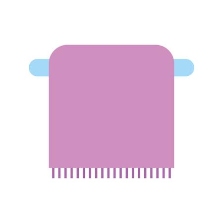 bathroom towel on the rack cotton hygiene vector illustration