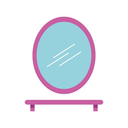 Badkamerspiegel en plank met tandenborstelzeep