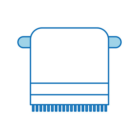 Bathroom towel on the rack cotton hygiene Illustration