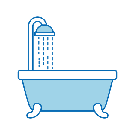 Bathtub clean hygiene interior ceramic icon