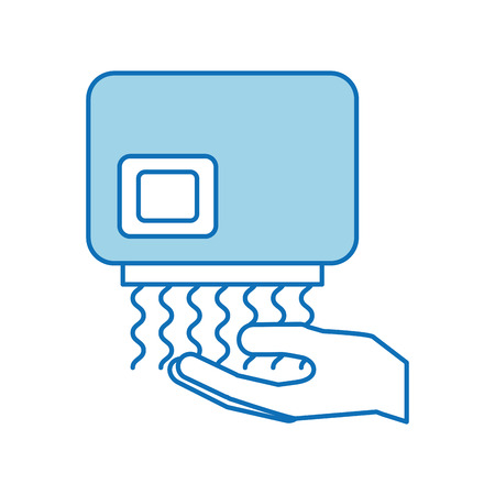 Hand dryer automatic clean equipment icon