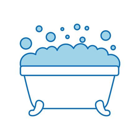 Vasca da bagno pulita igiene interna in ceramica icona Archivio Fotografico - 88167210