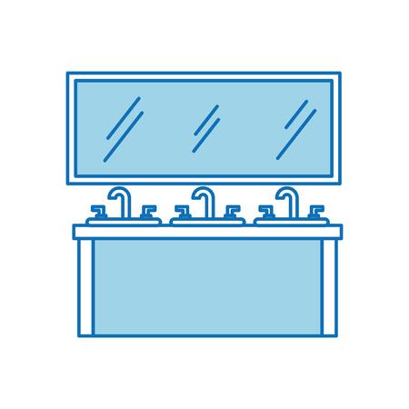シンク洗面化粧台キャビネット家具引き出し付きのバスルームのインテリア