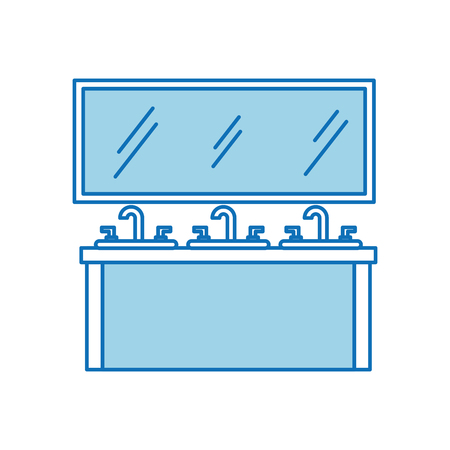 Bathroom interior with sink vanity cabinet furniture drawers Banco de Imagens - 88167213