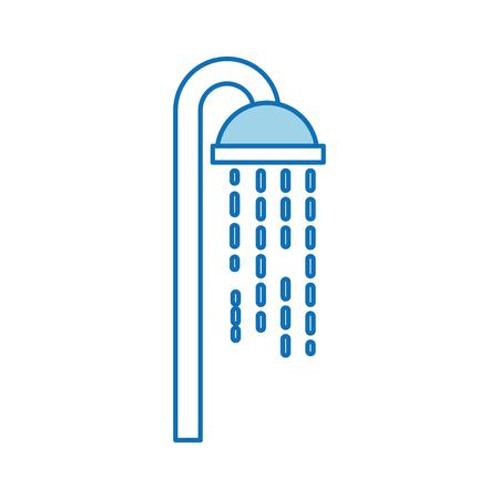 Soffione doccia in bagno con gocce d & # 39 ; acqua che scorre Archivio Fotografico - 88167216