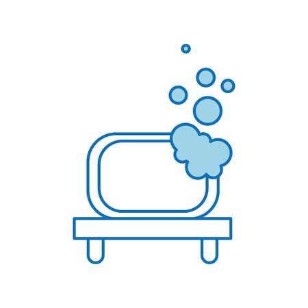 浴室の棚と泡クリーン ツール ベクトル図