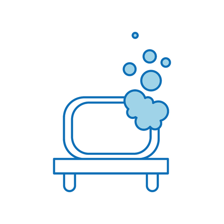 bathroom shelf and bubbles clean tool vector illustration