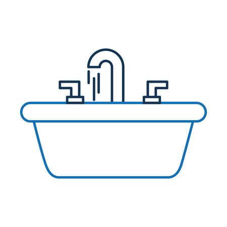 Fregadero de la casa para el baño de baño de la habitación Foto de archivo - 88167218