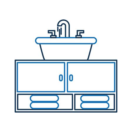 トイレ浴室のためのホームのシンク家具タオル