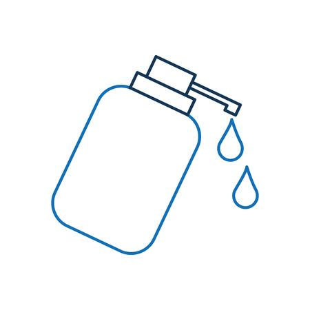 Dispenser bottle gel liquid soap lotion vector illustration 向量圖像