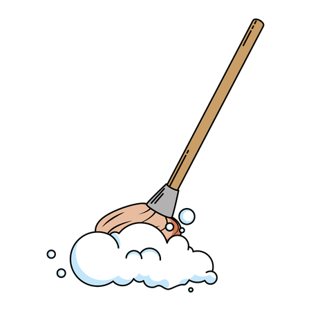 mop clean isolated icon vector illustration design