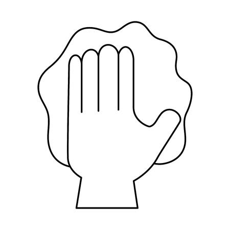Hand afvegen met handschoen vector illustratie ontwerp Stockfoto - 88183662