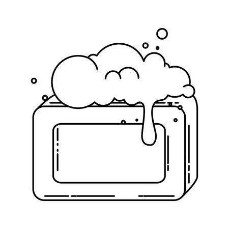 Jabón de barras con espuma de ilustración vectorial de diseño Foto de archivo - 88183667