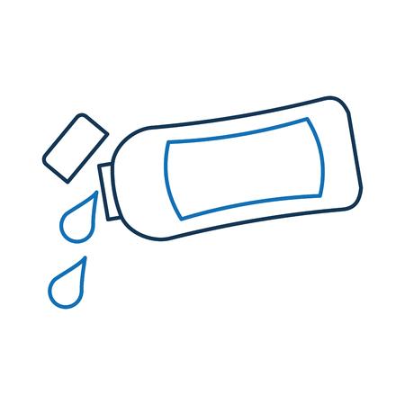 プラスチック ボトルのローションやシャワー ゲル テンプレート デザイン ベクトル図をシャンプーします。 写真素材 - 88183678