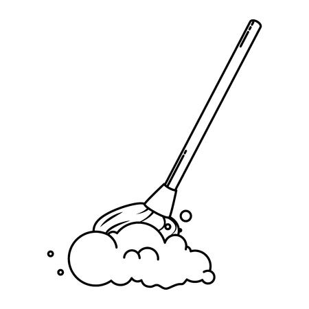 dweil schoon geïsoleerd pictogram vectorillustratieontwerp
