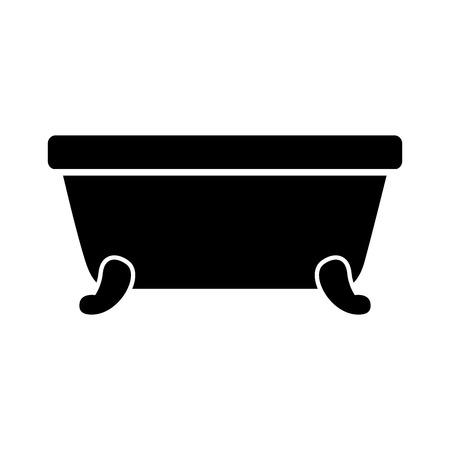 욕조 청소 위생 인테리어 세라믹 아이콘 벡터 일러스트 레이션