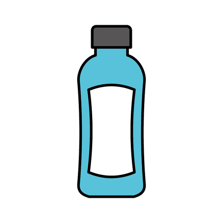 Shampoo plastic bottle lotion or shower gel template design vector illustration Illustration