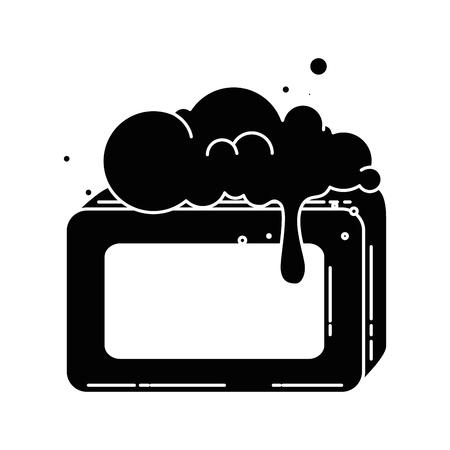 Jabón de barra con diseño de ilustración vectorial de espuma Foto de archivo - 88185014