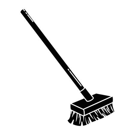 brush clean isolated icon vector illustration design Illustration