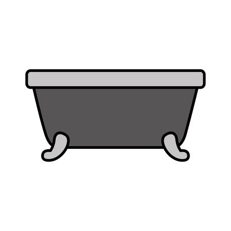 badkuip schone hygiëne interieur keramische pictogram vectorillustratie