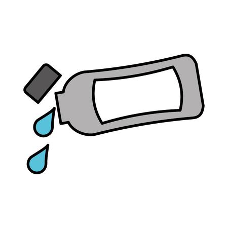 プラスチック ボトルのローションやシャワー ゲル テンプレート デザイン ベクトル図をシャンプーします。  イラスト・ベクター素材