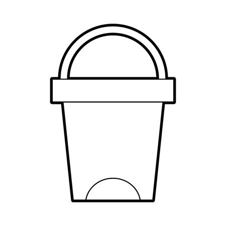 ゴミ箱がバスルーム ツール プラスチック ベクトル図をクリーニング  イラスト・ベクター素材