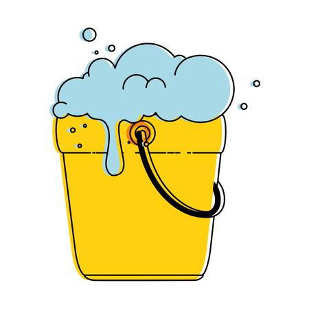 bucket with foam icon vector illustration design Illustration
