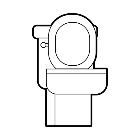 toilet bowl equipment bath ceramic cartoon icon vector illustration