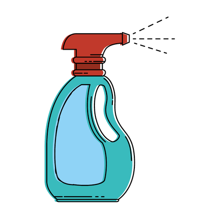 spray bottle product icon vector illustration design