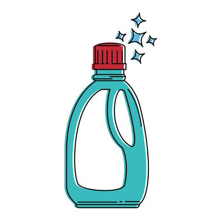 bouteille de détergent isolé icône du design illustration vectorielle