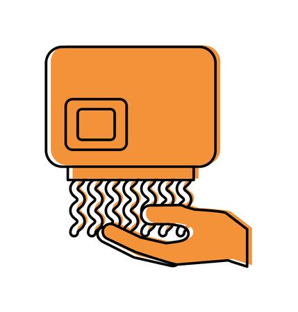 Ilustración de vector de icono de equipo de limpieza automática secador de manos Foto de archivo - 88187116