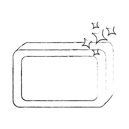Jabón de barra con diseño de ilustración vectorial de espuma Foto de archivo - 88187117