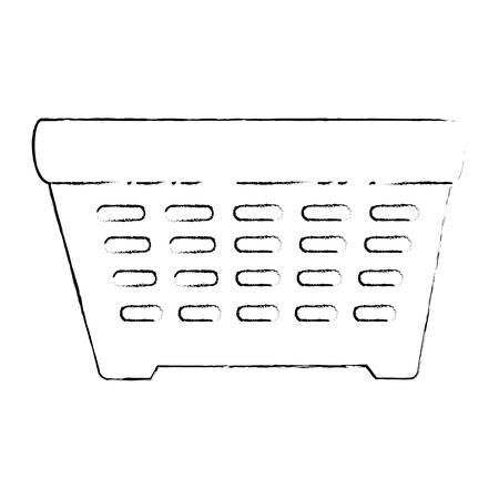 쇼핑 바구니 격리 된 아이콘 벡터 일러스트 디자인