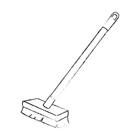 깨끗 한 절연 된 아이콘 벡터 일러스트 디자인 브러쉬