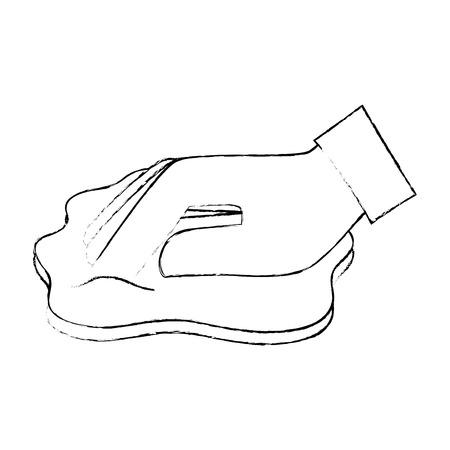 hand afvegen met doek vector illustratie ontwerp Stock Illustratie