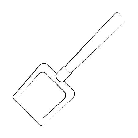 dustpan clean isolated icon vector illustration design Illustration
