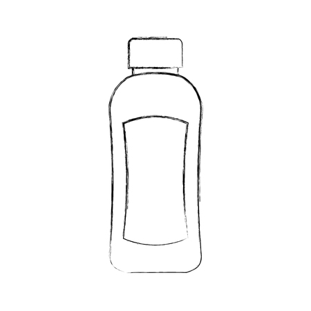 shampoo plastic bottle lotion or shower gel template design vector illustration