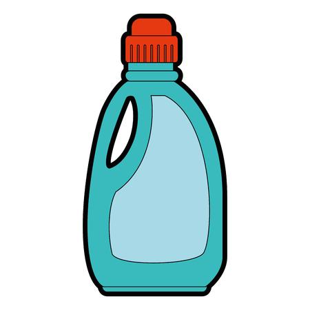wasmiddel fles geïsoleerd pictogram vector illustratie ontwerp