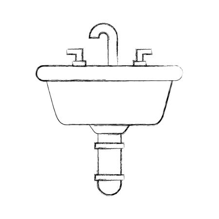 トイレ浴室セラミック ベクトル図のホームのシンク  イラスト・ベクター素材