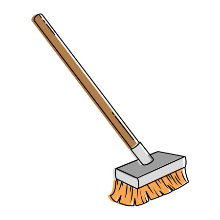 brush clean isolated icon vector illustration design Ilustracja