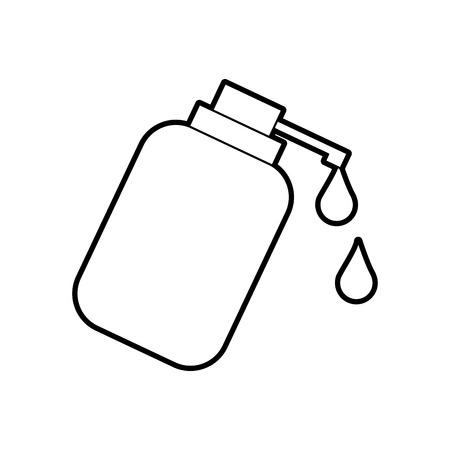 디스펜서 병 젤 액체 비누 로션 벡터 일러스트 레이션 일러스트