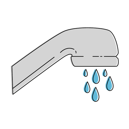 water faucet isolated icon vector illustration design