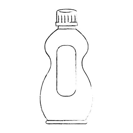 detergent bottle isolated icon vector illustratie ontwerp Stock Illustratie