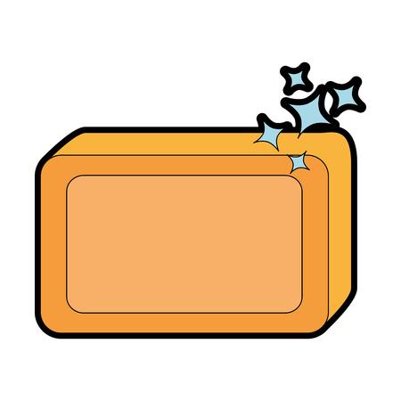 Jabón de barra con diseño de ilustración vectorial de espuma Foto de archivo - 88189184