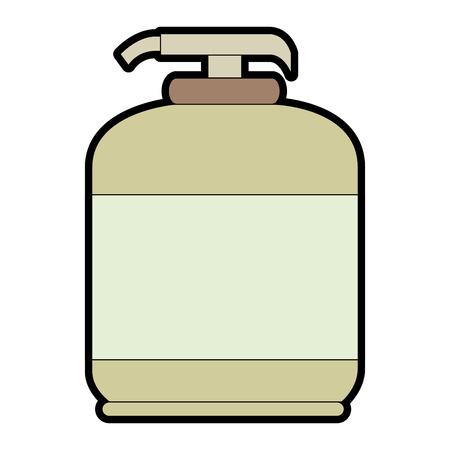 石鹸ボトル分離アイコン ベクトル イラスト デザイン  イラスト・ベクター素材