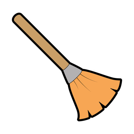 broom cleaner isolated icon vector illustration design Illustration