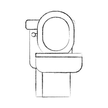 화장실 그릇 장비 목욕 세라믹 만화 아이콘 벡터 일러스트 레이션 일러스트