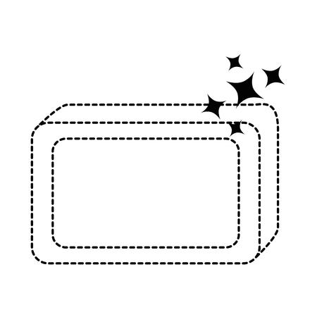 bar soap with foam vector illustration design